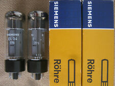 2x EL34 / 6CA7  tubes  SIEMENS  /   MULLARD   - o -getter  -  NOS  -  EL 34