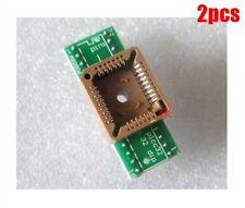 2Pcs PLCC32 To Dip 32 Program Socket Converter gv