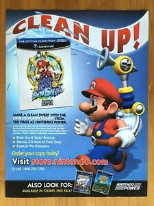 2002 Super Mario Sunshine Player's Guide Print Ad/Poster Official Promo Wall Art