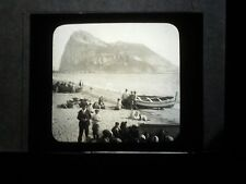 VINTAGE COLLECTIBLE GLASS PICTURE NEGATIVE Gibraltar from the North