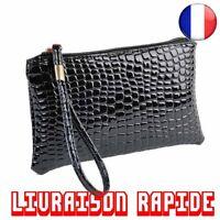 Portefeuille Sac À Main Femmes Crocodile Cuir Porte-Monnaie Pochette Portable
