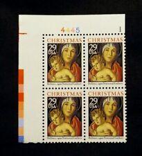 US Stamps #2710 ~ 1992 CHRISTMAS 29c Plate Block MNH