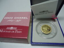 FRANKREICH 2008 - 5 Euro in 920 Gold (8,45g), PP - COCO CHANEL -RAR!!