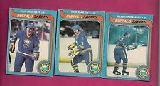 1979-80 OPC SABRES PERREAULT + DUDLEY + MARTIN   CARD (INV#4174)