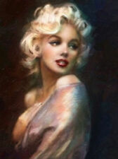 ZOPT119 100% hand painted ART MARILYN MONROE Figures OIL PAINTING ON CANVAS