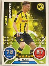 Match Attax 2016/17 Bundesliga - #076 Lukasz Piszczek - Borussia Dortmund
