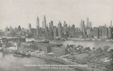 """""""Vintage old postcard from collection"""" Midtown NY from Queensborough Bridge"""