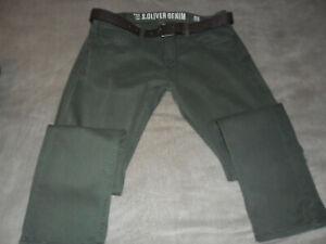 Herren Jeans von S.Oliver Gr. 34/32, grün wie Neu, anschauen!