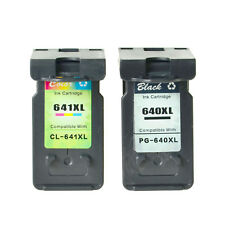 2X Ink Cartridge Black 640XL Color 641XL for Canon PIXMA MG3260 MG3560 MG3660