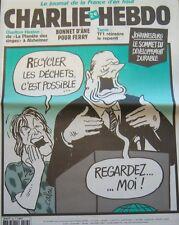 Charlie Hebdo Nr. 533 September 2002 Cabu Recycler die Abfall Ist Möglich