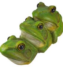 Froschtrio schwimmend 30 x 15 Frosch schwimmt Garten Tier Figur Deko GWV 31392