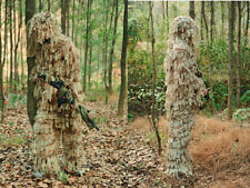 3D Camouflage Desert Hunting LEAF NET Ghillie Suit Jacket And Trousers