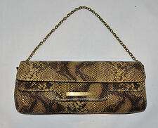 BCBGMAXAZRIA Leather Python Print Shoulder Bag Purse Handbag Clutch New