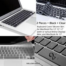 Aluminum Unibody Apple MacBook / Pro / Air Silicone Keyboard Skin Cover,2-Packs