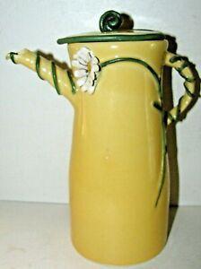 One of a Kind PRATT CLAY STUDIO Whimsical Teapot / Daisy Flower 2011
