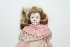 """Antique 5"""" All-Bisque Stiff Neck Miniature Jointed Doll - Germany Antique Doll"""