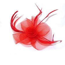 Accesorios de color principal rojo plumas para cabello de mujer