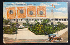 1910s Peru Picture Postcard Cover To Madison WI USA Independence Square