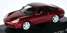PORSCHE 911 996 Carrera 4 Coupé 1997-2006 TRAN. Rojo Metálico 1:87 Herpa