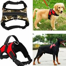 Pet Dog Harness Collar Nylon Heavy Duty Padded Extra Big Large Medium Small Size