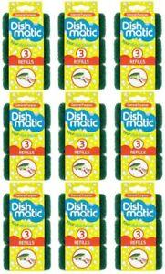 Dishmatic scouring Sponge, Green, 3 pack