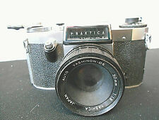 Praktica FX SLR 35mm Camera with Auto Yashica Yashinon-DS 50mm 1:1.9 Lens