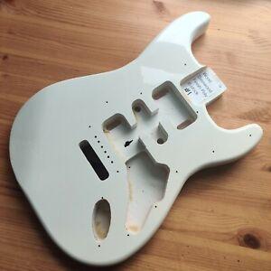 B-Stock Lightweight Guitar Body Basswood Strat Stratocaster Style Gloss White #1