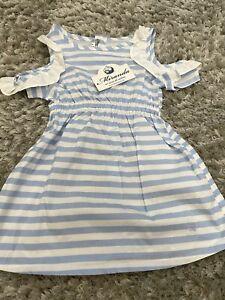 Miranda Spanish Beautiful Blue Dress Age 8 BNWT
