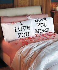 Nuevo te amo más Fundas De Almohada 2 día de San Valentín Regalo Pareja Ropa De Cama Dormitorio