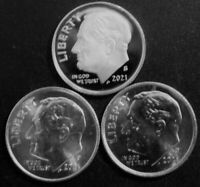 2021 PDS PROOF & Uncirculated Dime Coins from US Proof Sets & Bank Rolls