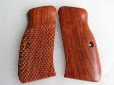 Cool  CZ 97b grip, half checkered& finger groove hard wood,thailand handmade