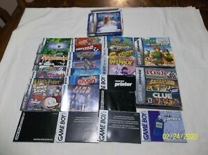 Lot of 21 Game Boy Color / Game Boy Advance Manuals  NO GAMES!