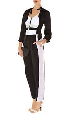 KAREN MILLEN SOFT colourblock trousers REDUCED TO CLEAR UK12 EU 40 RRP£115