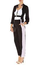KAREN MILLEN SOFT colourblock trousers Black /Pastel UK 12 EU 40 US 6 RRP £115
