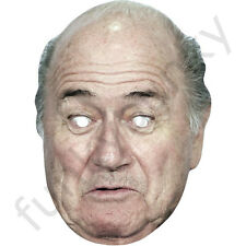 Sepp Blatter FIFA president Celebrity Card Football Mask All Masks Are Pre-Cut