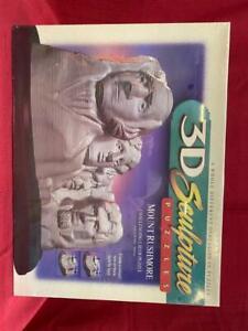 MILTON BRADLEY (1998) 3D Sculpture Puzzle Mount Rushmore 186 Pieces NEW SEALED