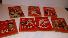 Who's Who In Baseball Lot 1955 to 1977 6 Issues