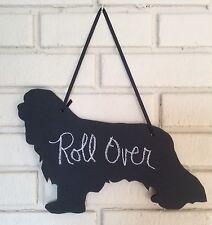 Cavalier King Charles Spaniel Handmade Chalkboard Dog Shadow w/chalk & Eraser