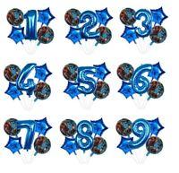 Dinosaur Balloon Kit Blue Dino 30'' Age Number Happy Birthday 5 Party Balloons