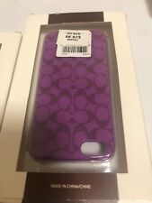 Coach Iphone 5 Case C Logo Purple Msrp $38