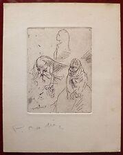 Pierre Cadiou de Condé gravure originale signée Monthomé New-York Bretagne
