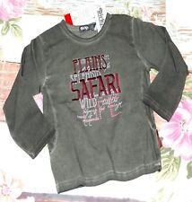 Dirkje Langarmshirt Mädchen Shirt SAFARI LIFE Nieten Grün Gr. 92 98 110 116 NeU