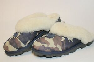 UGG Australia Uggs Womens 7 38 Coquette Camo Sheepskin Slippers Shoes 5610