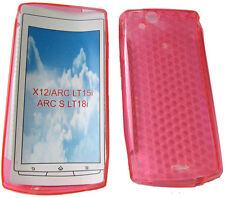 TPU Gel funda para Sony Ericsson X12 Xperia Arc Anzu LT15i Arc LT18i Rosa S