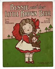 TEDDY BEAR Sheet Music 1906 Bessie And Her Little Brown Bear