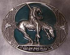 of the Trail green New Pewter Belt Buckle Old West End
