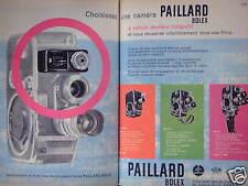 PUBLICITÉ 1960 CAMÉRA PAILLARD BOLEX 8 mm POSEMÈTRE CELLULE PHOTO-ÉLECTRIQUE