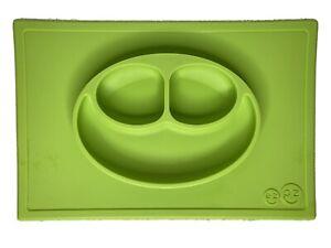 EZ PZ Silicone Non Slip Eating Mat Toddler Baby Happy Green