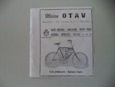 advertising Pubblicità 1912 OFFICINE OTAV MILANO - CICLO BICICLETTA