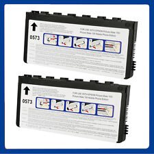 2 Non-OEM INK CARTRIDGES REPLACE FOR PICTUREMATE 100 U- T0573 U- T573